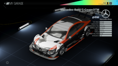 Project Cars Garage - Mercedes-Benz C Coupe DTM