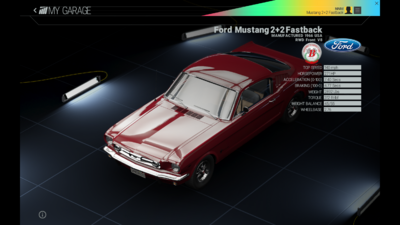 Project Cars Garage - Ford Mustang 2 2 Fastback