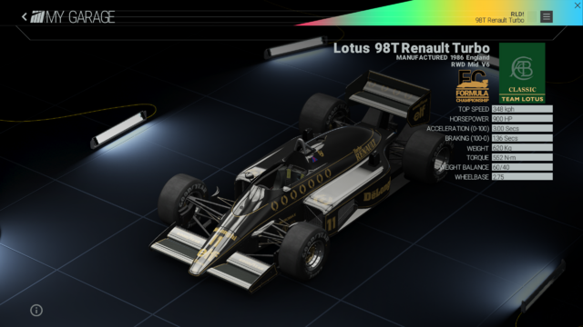 File:Project Cars Garage - Lotus 98T Renault Turbo.png