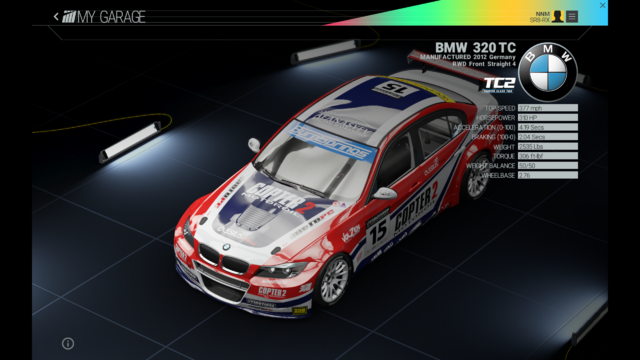 File:Project Cars Garage - BMW 320 TC.png