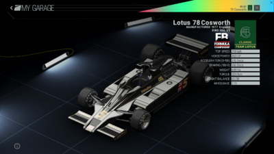 Project Cars Garage - Lotus 78 Cosworth