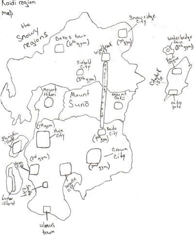 Kaidi region map