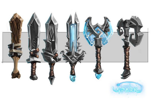 File:Weapons - Swords and axe.png