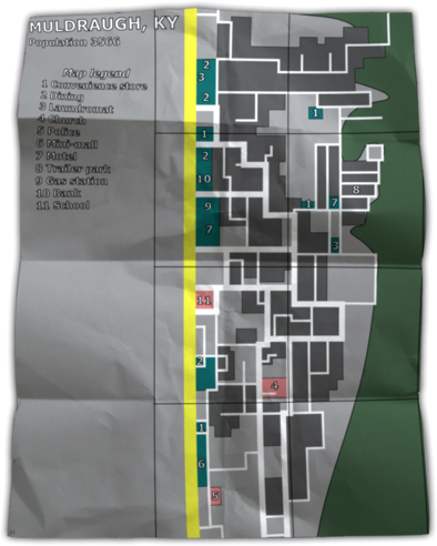 Zomboid map