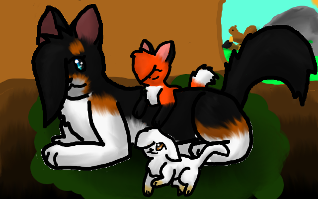 File:Shadefrost gingerkit and palekit in the nursery by kyomikitty.png