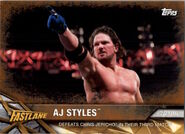 2017 WWE Road to WrestleMania Trading Cards (Topps) AJ Styles 27
