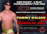Tommy Wilson - Mayhem Wrestling Entertainment