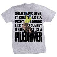 Adam Pearce Love Is A Piledriver Shirt