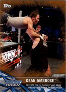 2017 WWE Road to WrestleMania Trading Cards (Topps) Dean Ambrose 3