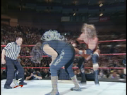 Royal Rumble 2000 HHH hits Foley with Barbed Wire