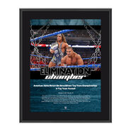 American Alpha Elimination Chamber 2017 10 x 13 Commemorative Photo Plaque