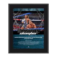American Alpha Elimination Chamber 2017 10 x 13 Commemorative Photo Plaque