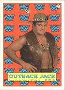 1987 WWF Wrestling Cards (Topps) Sticker Outback Jack 11
