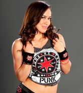 AJ in CM Punk shirt