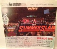 SummerSlam 1992 event ticket