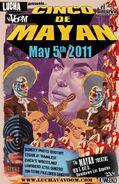 Lucha VaVoom Cinco De Mayan 2011 Poster
