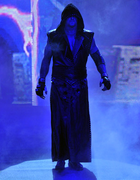 Taker walking down ramp