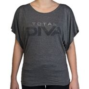 Total Diva Women's Tri-Blend Draped Sleeve Shirt