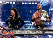 2017 WWE Road to WrestleMania Trading Cards (Topps) Triple H & Stephanie McMahon 66