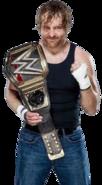 Dean ambrose wwe world heavyweight champion by nibble t-da71ayv