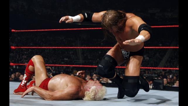 Resultado de imagem para flair vs triple h raw 31 december 2007