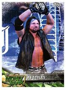 2017 WWE Road to WrestleMania Trading Cards (Topps) AJ Styles 91