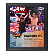 Chris Jericho and Kevin Owens SummerSlam 2016 Framed Plaque w Ring Canvas