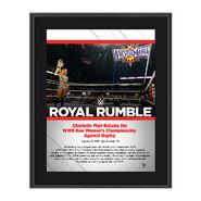 Charlotte Royal Rumble 2017 10 x 13 Commemorative Photo Plaque