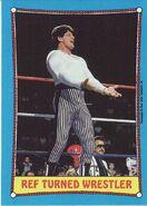 1987 WWF Wrestling Cards (Topps) Ref Turned Wrestler 23