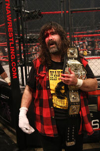 he defeated sting to win the tna world heavyweight championship for his first ever championship in tna and his fourth world title overall mick did not