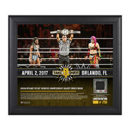 Asuka NXT TakeOver Orlando 15 x 17 Framed Plaque w Ring Canvas