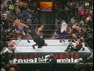 Royal Rumble 2000 The Rock eliminates Bossman