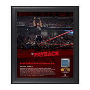 Seth Rollins Payback 2017 15 x 17 Framed Plaque w Ring Canvas
