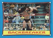 1987 WWF Wrestling Cards (Topps) Backbreaker 32