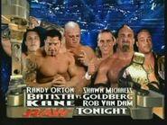 Batista, Kane & Randy Orton vs Goldberg, Rob Van Dam & Shawn Michaels