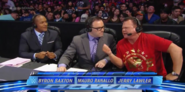 Jerry Lawler with Mauro Ranallo and Byron Saxton from Raw