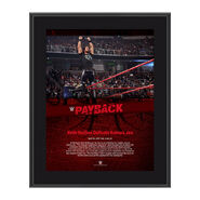 Seth Rollins Payback 2017 10 x 13 Commemorative Photo Plaque