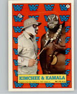 1987 WWF Wrestling Cards (Topps) Sticker Kimchee & Kamala 8