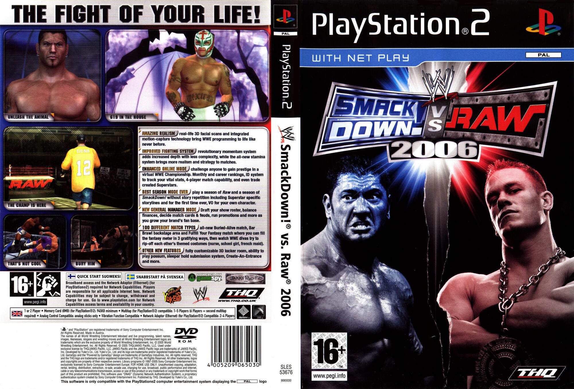 2006 control raw smackdown vs