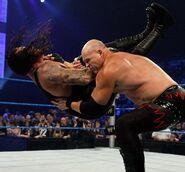 Kane chokeslam