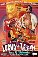 Lucha VaVoom Sexy Hot Summer 2014 Poster