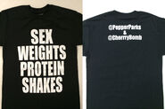 Pepper Parks & Cherry Bomb Sex Weights Protein Shakes T-Shirt
