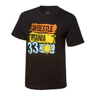 WrestleMania 33 Paint Youth Black T-Shirt