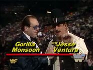 WWF-WWE Survivor-Series-1988 Gorilla-monsoon Jesse-TheBody-Ventura