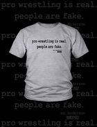 Mr. Anderson People Are Fake Athletic Grey T-Shirt