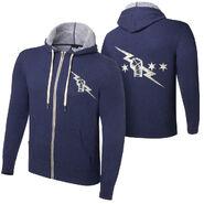 CM Punk Vintage Lightweight Full Zip Navy Sweatshirt