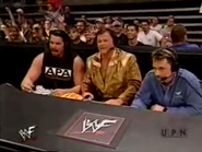 Michael Cole, Jerry Lawler & Bradshaw