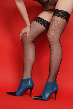 Legs with fishnetstockings and highheels