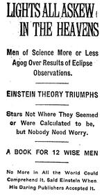 Einstein theory triumphs