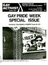 Gay Activist June 1971